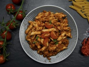 Wholemeal Pasta and Bolognaise